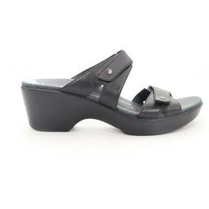 Dansko Dixe Slides Sandals Black  40 ($)11